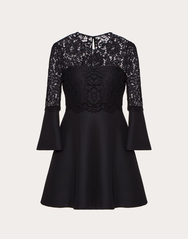 Платье из ткани Crepe Couture и кружева Heavy Lace
