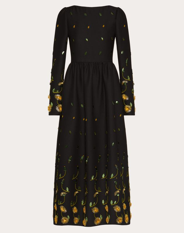 Embroidered Crepe Couture Dress