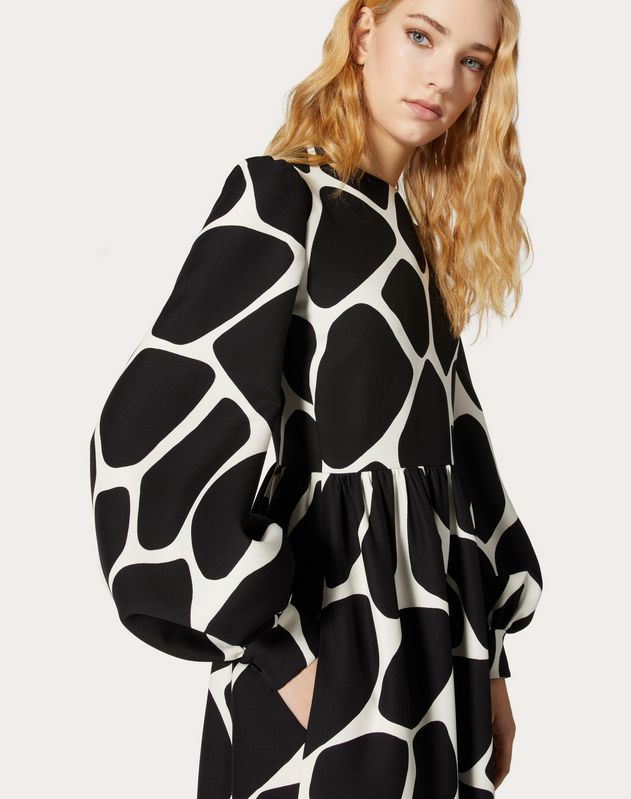 Printed Crepe Couture Dress