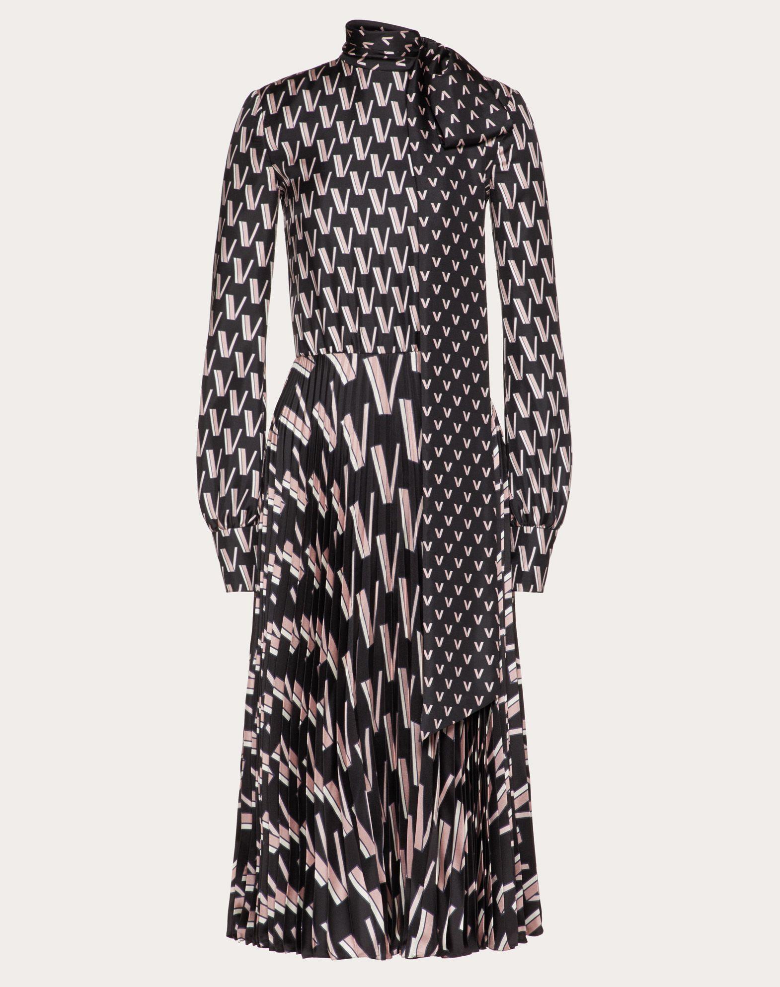 프린트 트윌 드레스
