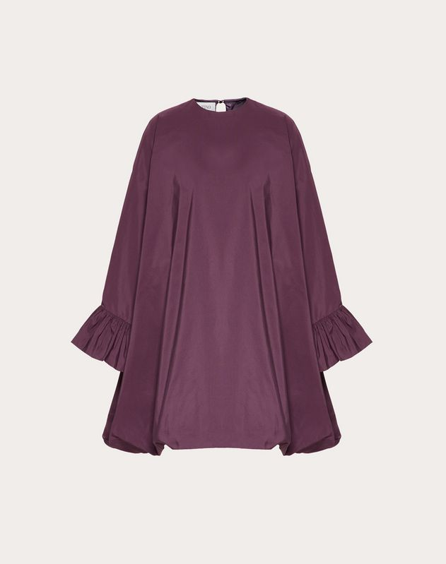 Micro-Faille Cape Dress