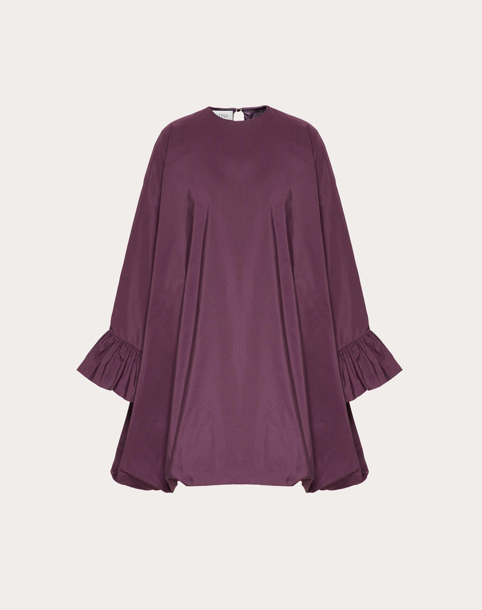 Cape-Kleid aus Micro Faille