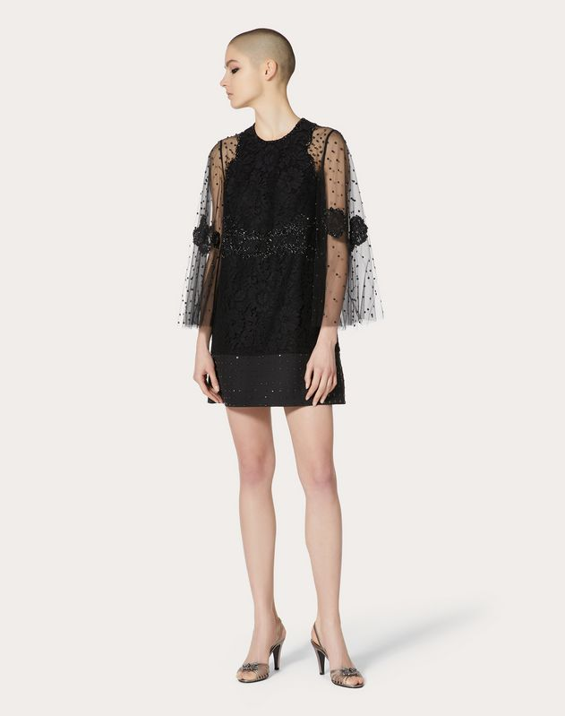 Embroidered Heavy Lace Dress