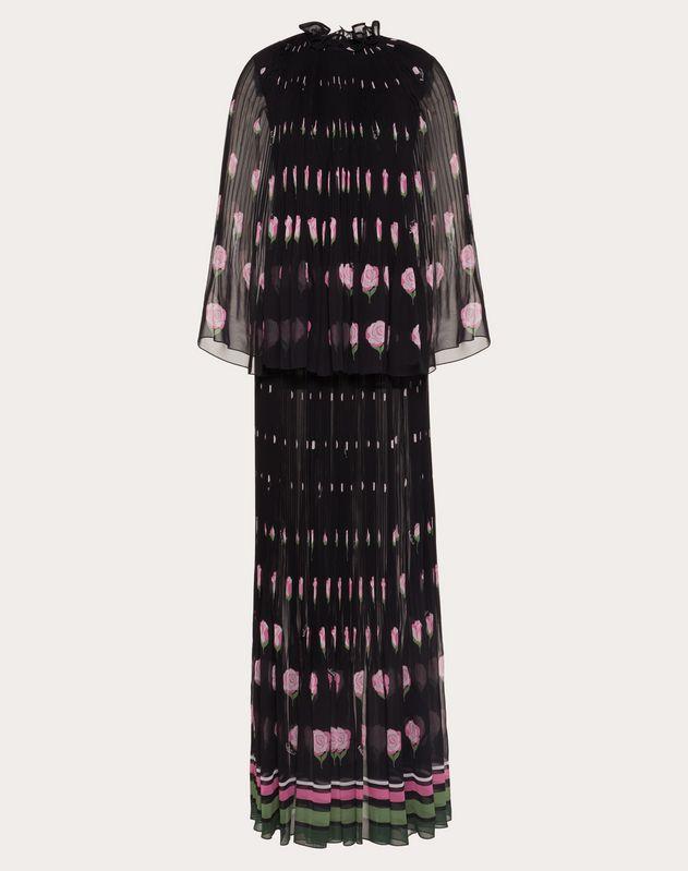 Bedrucktes Abendkleid aus Georgette