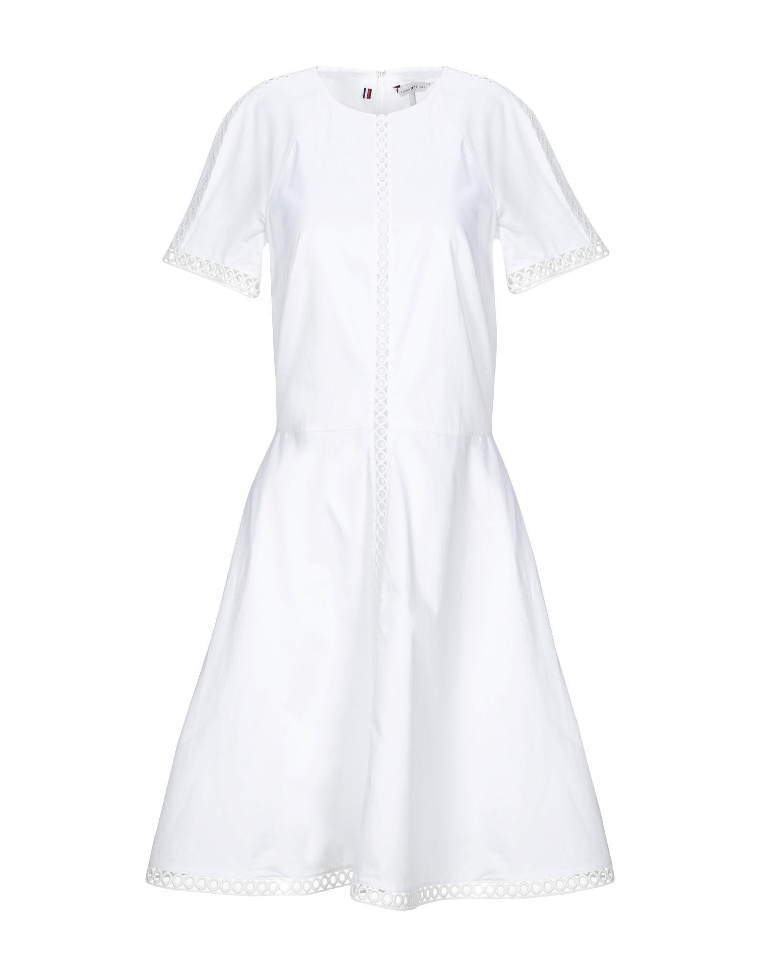 TOMMY HILFIGER Короткое платье платье с круглой горловиной на завязках tommy hilfiger