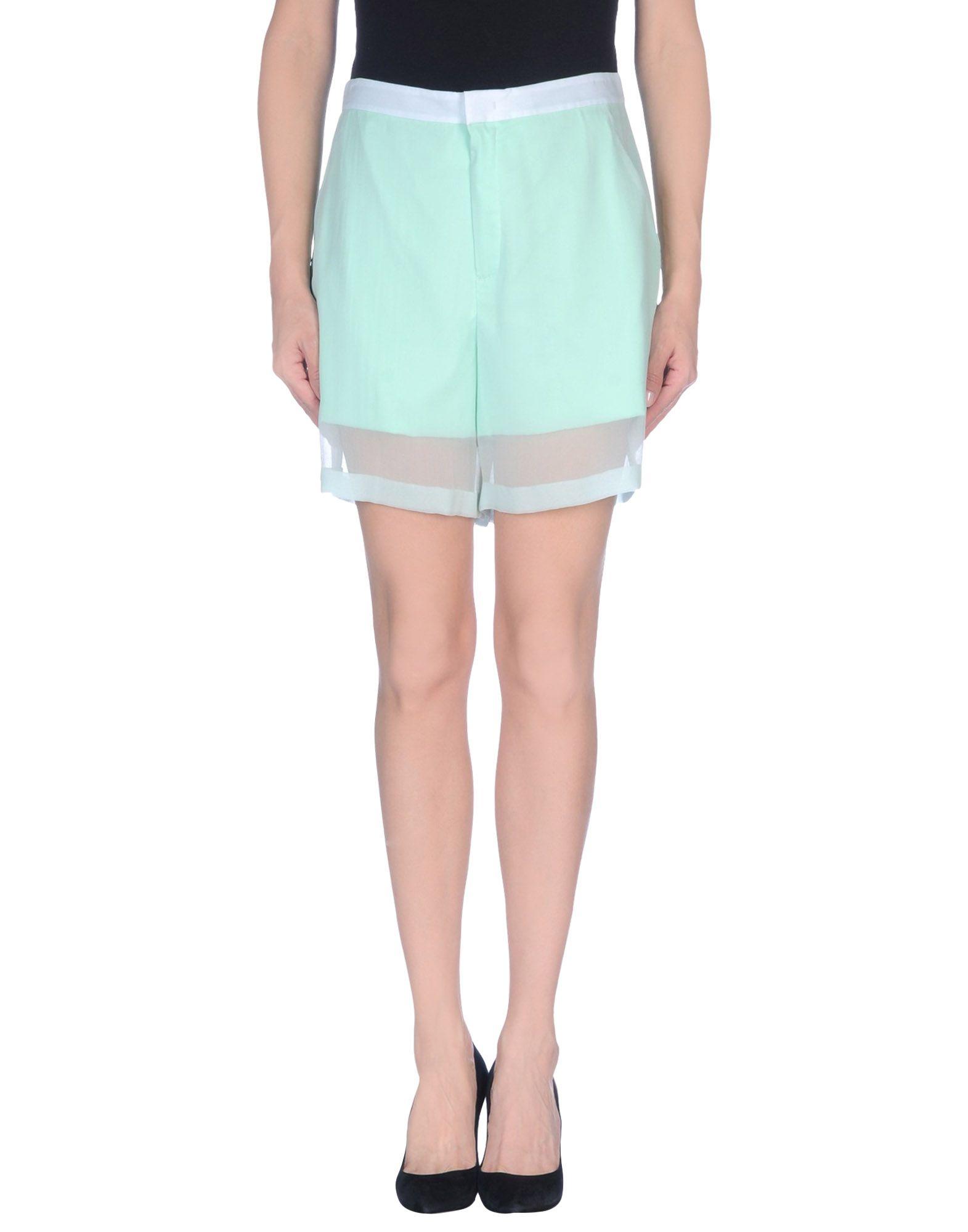 THEYSKENS' THEORY Shorts & Bermuda in Light Green