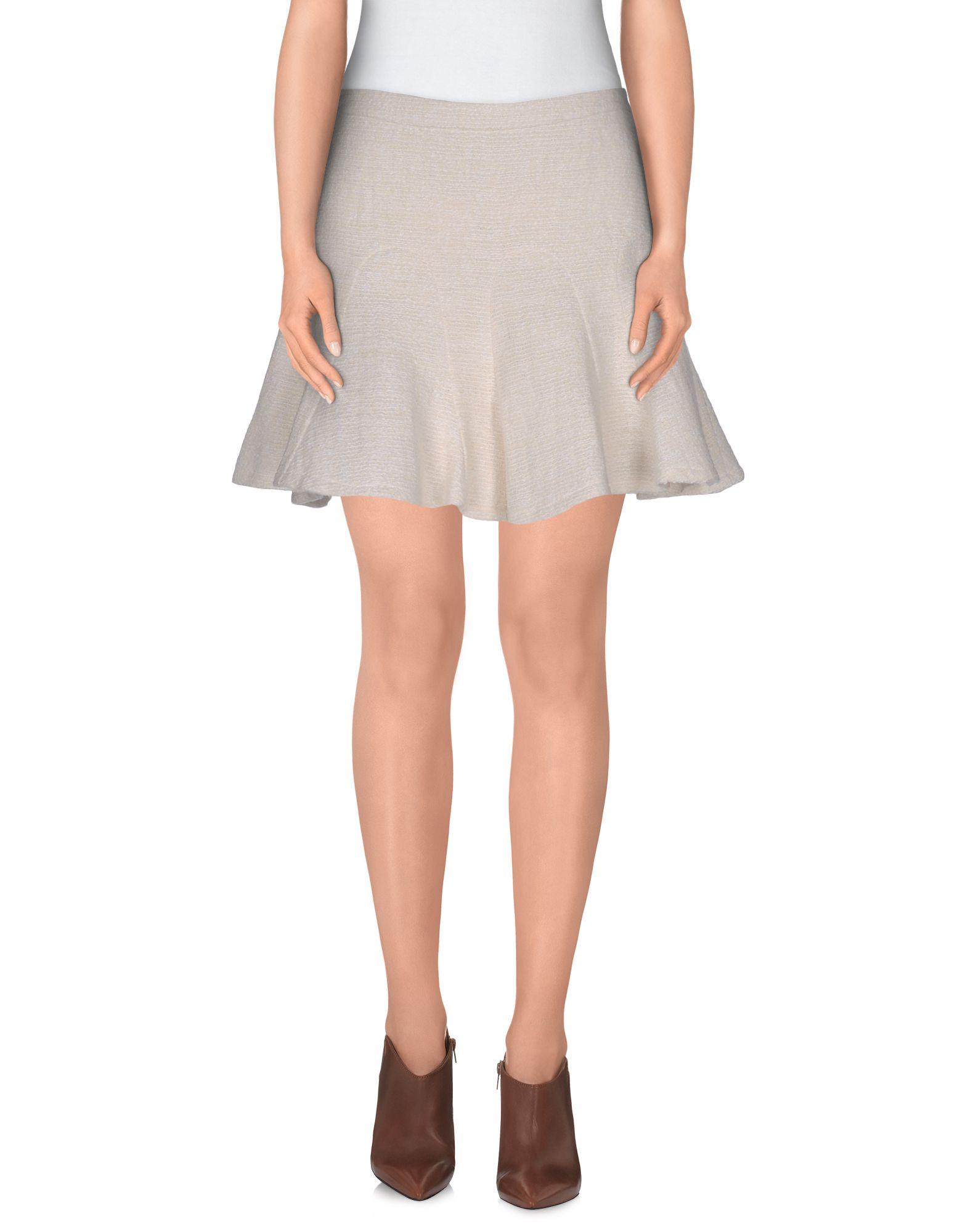 DEREK LAM 10 CROSBY Damen Minirock Farbe Elfenbein Größe 4