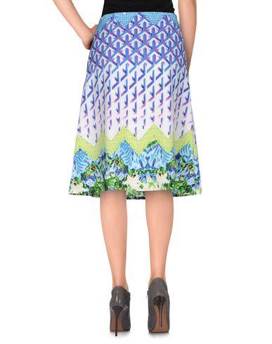Фото 2 - Юбку до колена от ANONYME DESIGNERS синего цвета