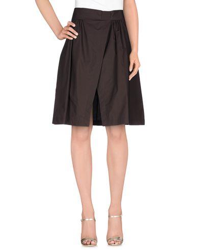 Фото - Юбку до колена от MSGM темно-коричневого цвета