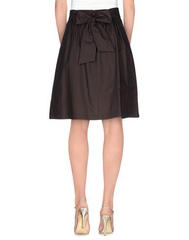 Фото 2 - Юбку до колена от MSGM темно-коричневого цвета