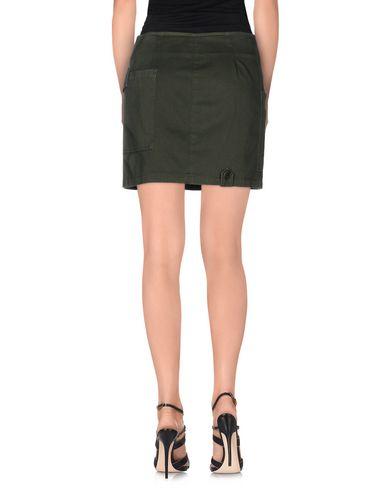Фото 2 - Мини-юбка цвет зеленый-милитари