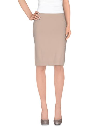 pinko-black-knee-length-skirt