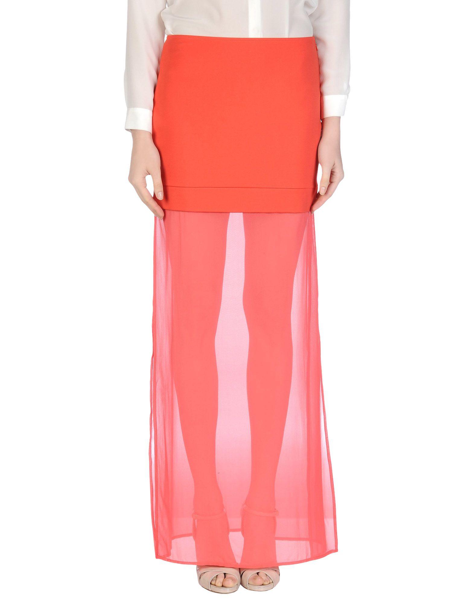 Фото - DKNY Длинная юбка обувь на высокой платформе dkny