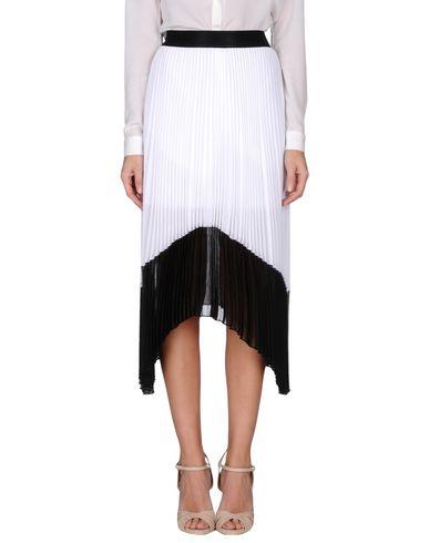 PINKO Damen Midirock Weiß Größe 36 100% Polyester