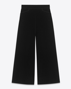 SAINT LAURENT Gonne Lunghe D Gonna pantalone nera in velours di cotone f