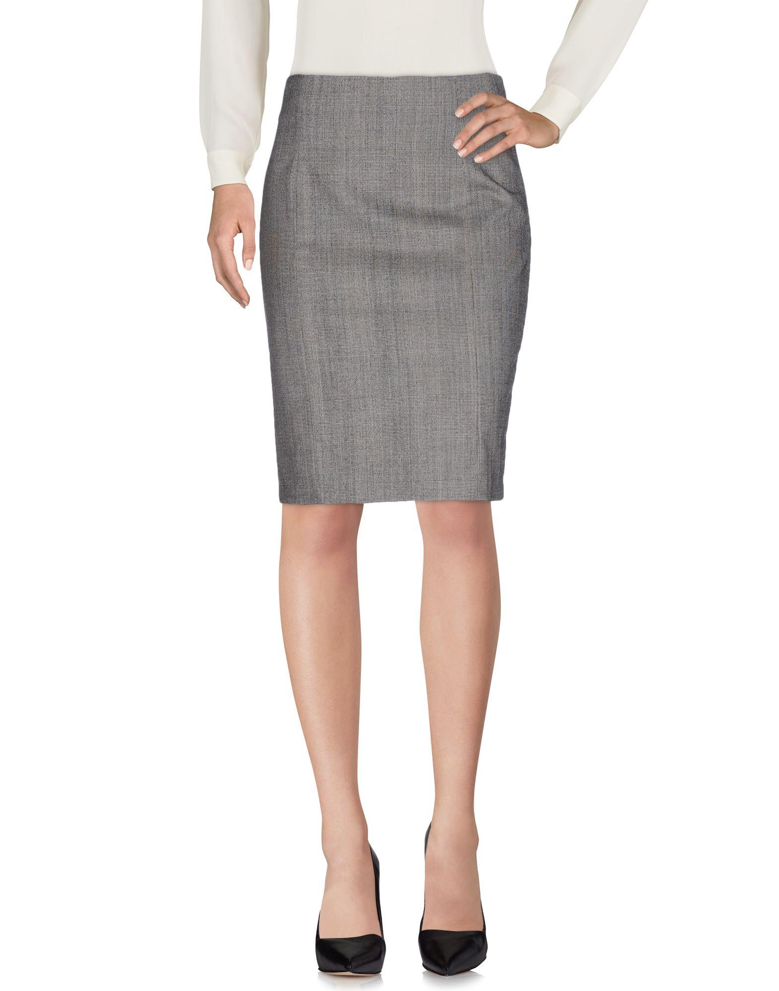 《セール開催中》LOVE MOSCHINO レディース ひざ丈スカート グレー 42 バージンウール 98% / ポリウレタン 2%