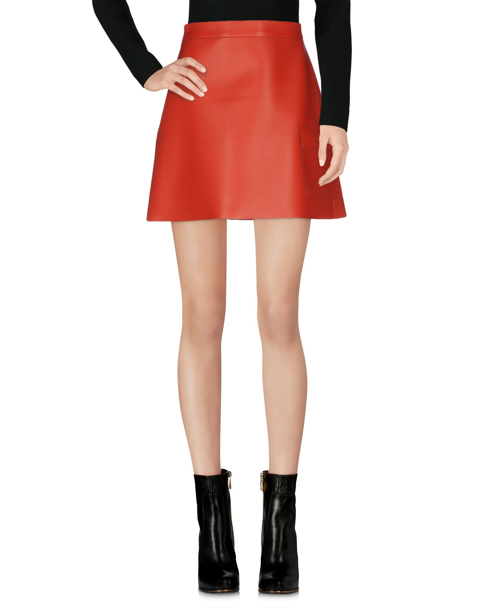 MSGM Damen Minirock Farbe Rot Größe 5