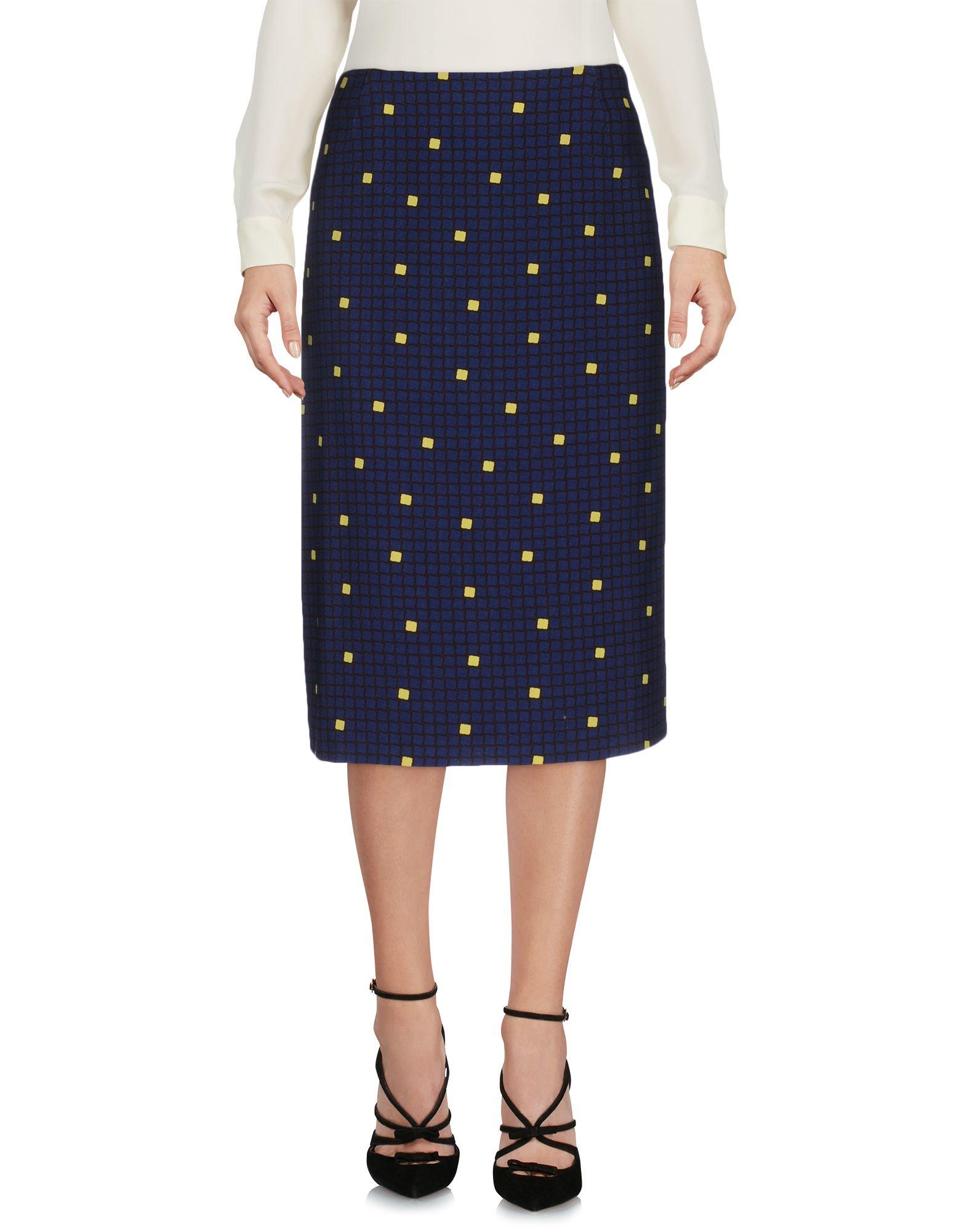 LAURA URBINATI Midi Skirts in Dark Blue