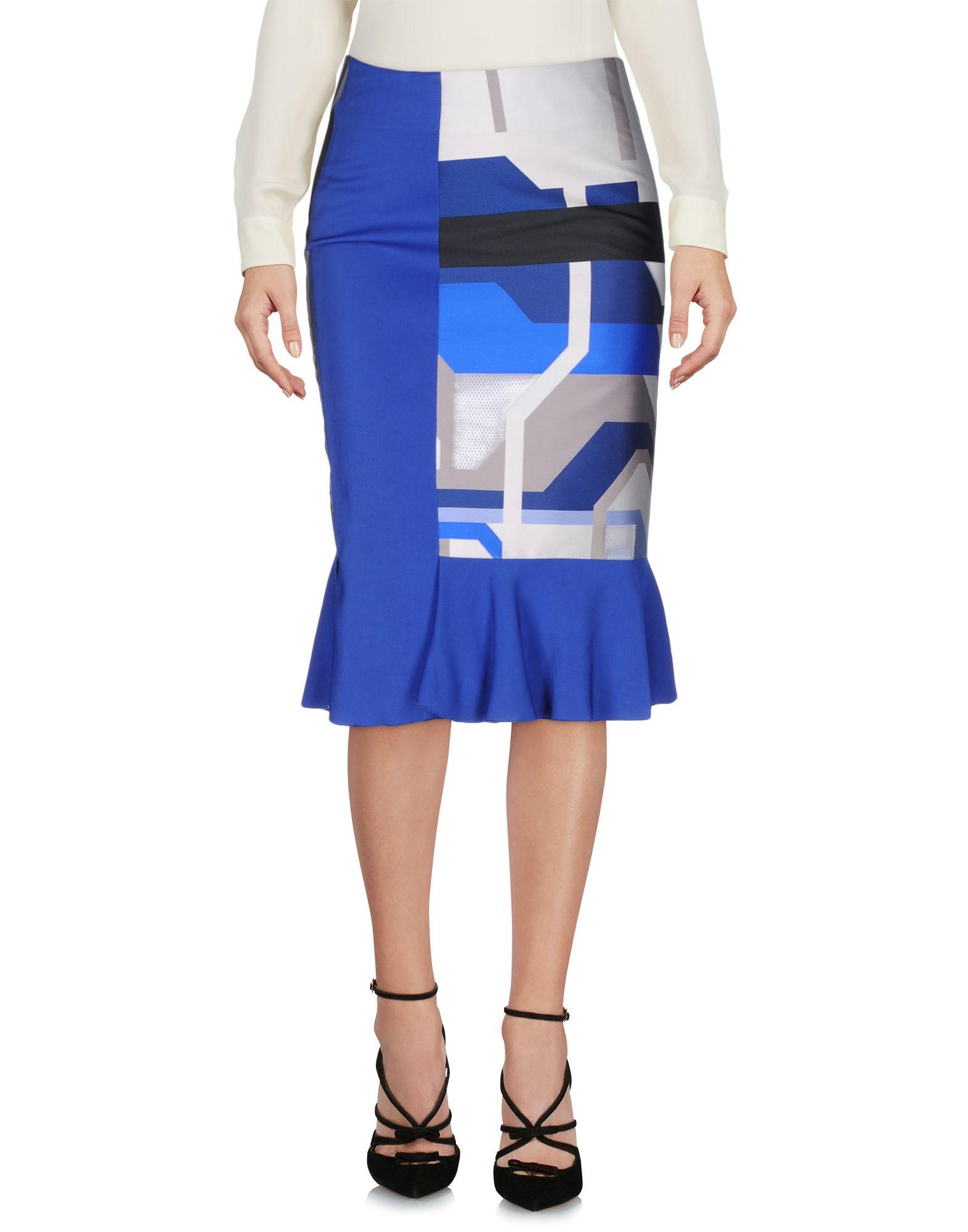 OSTWALD HELGASON Knee Length Skirt in Azure