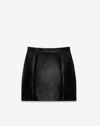 SAINT LAURENT Short Skirts D 80's Mini Skirt in Black Leather f