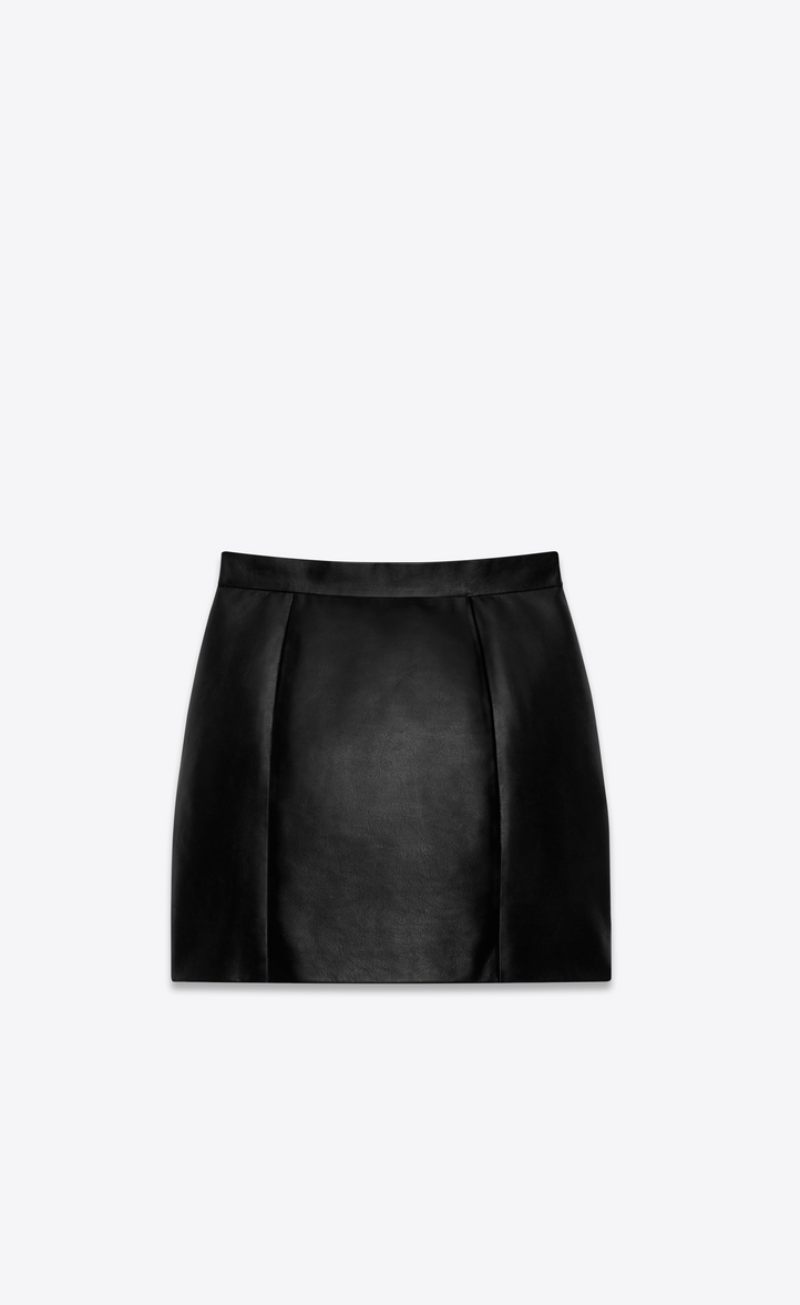 Saint Laurent 80 S Mini Skirt In Black Leather Ysl Com