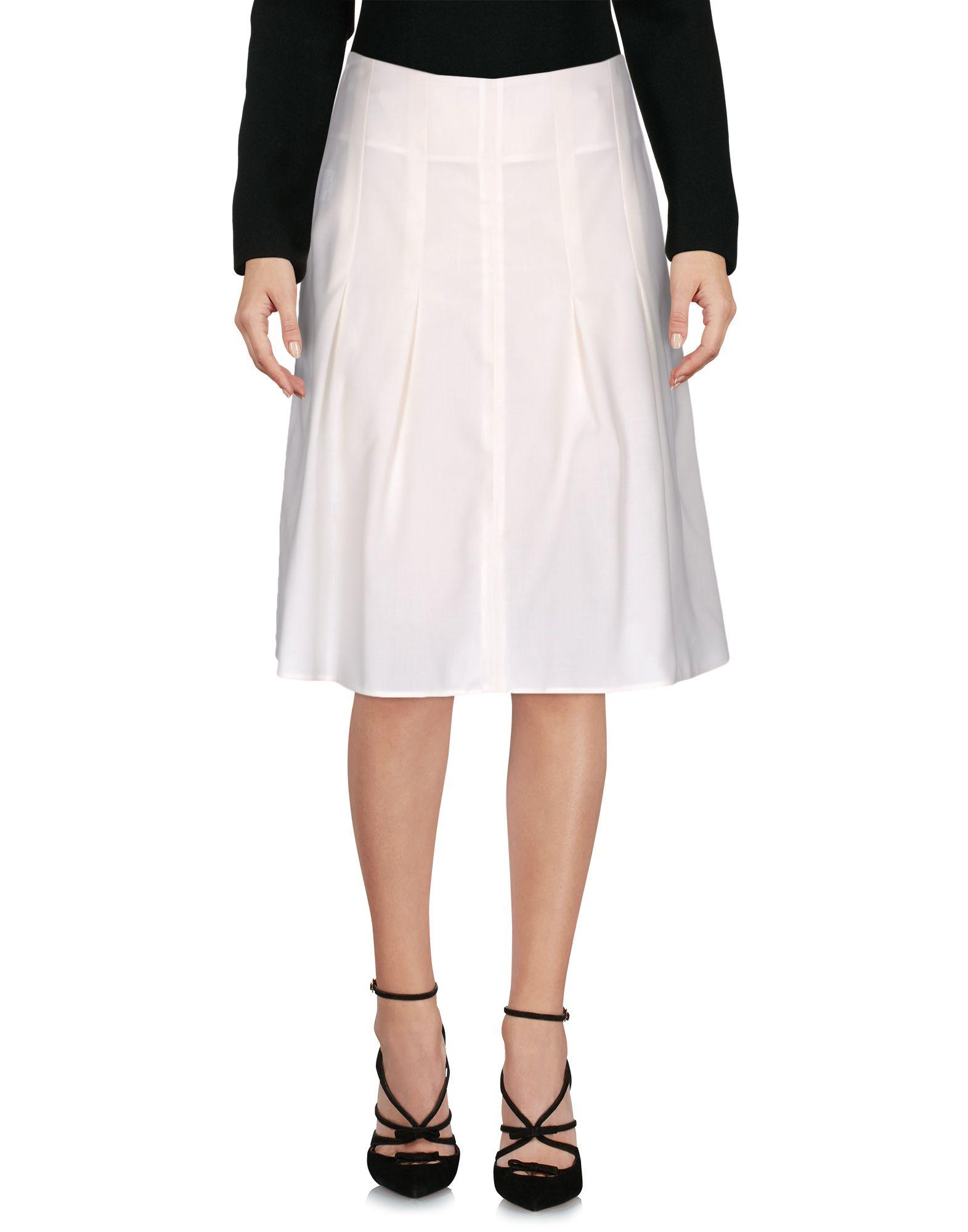 MARNI Damen Knielanger Rock Farbe Weiß Größe 3