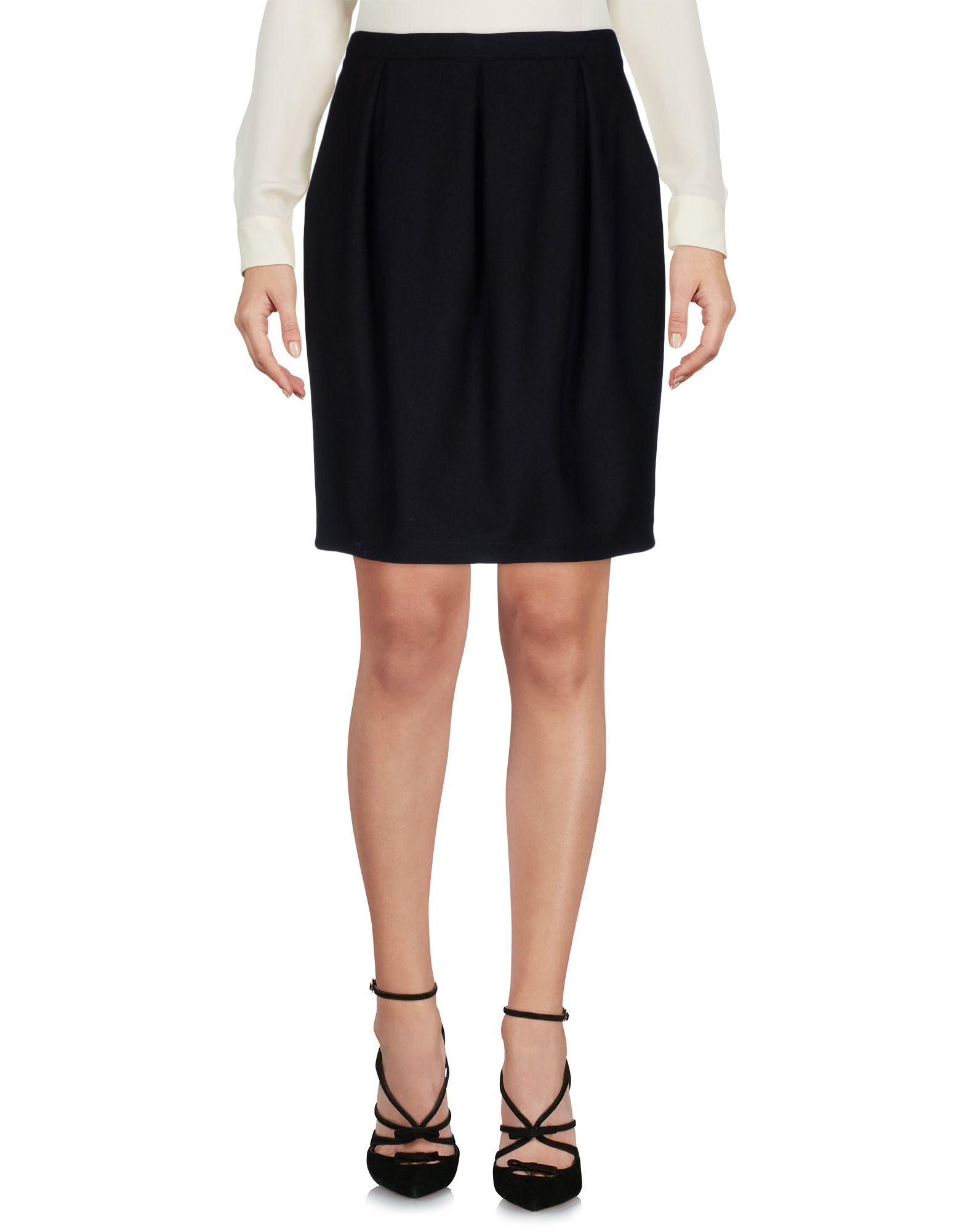 LAURA URBINATI Knee Length Skirt in Black