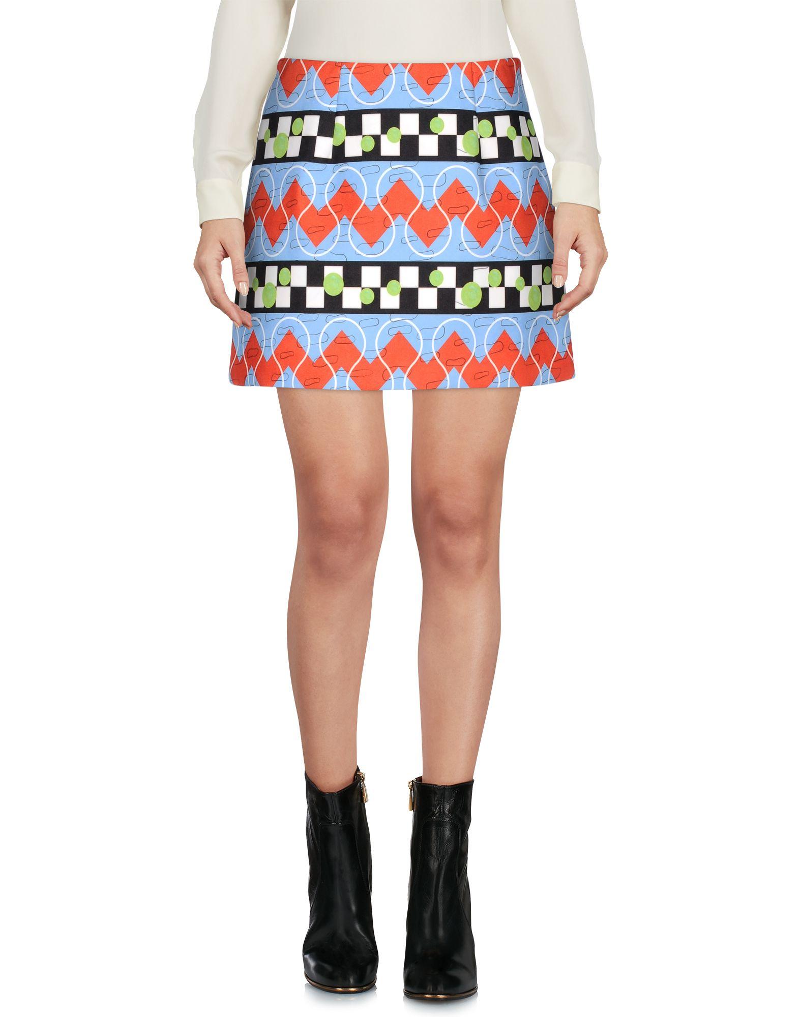 ARTHUR ARBESSER Mini Skirt in Sky Blue