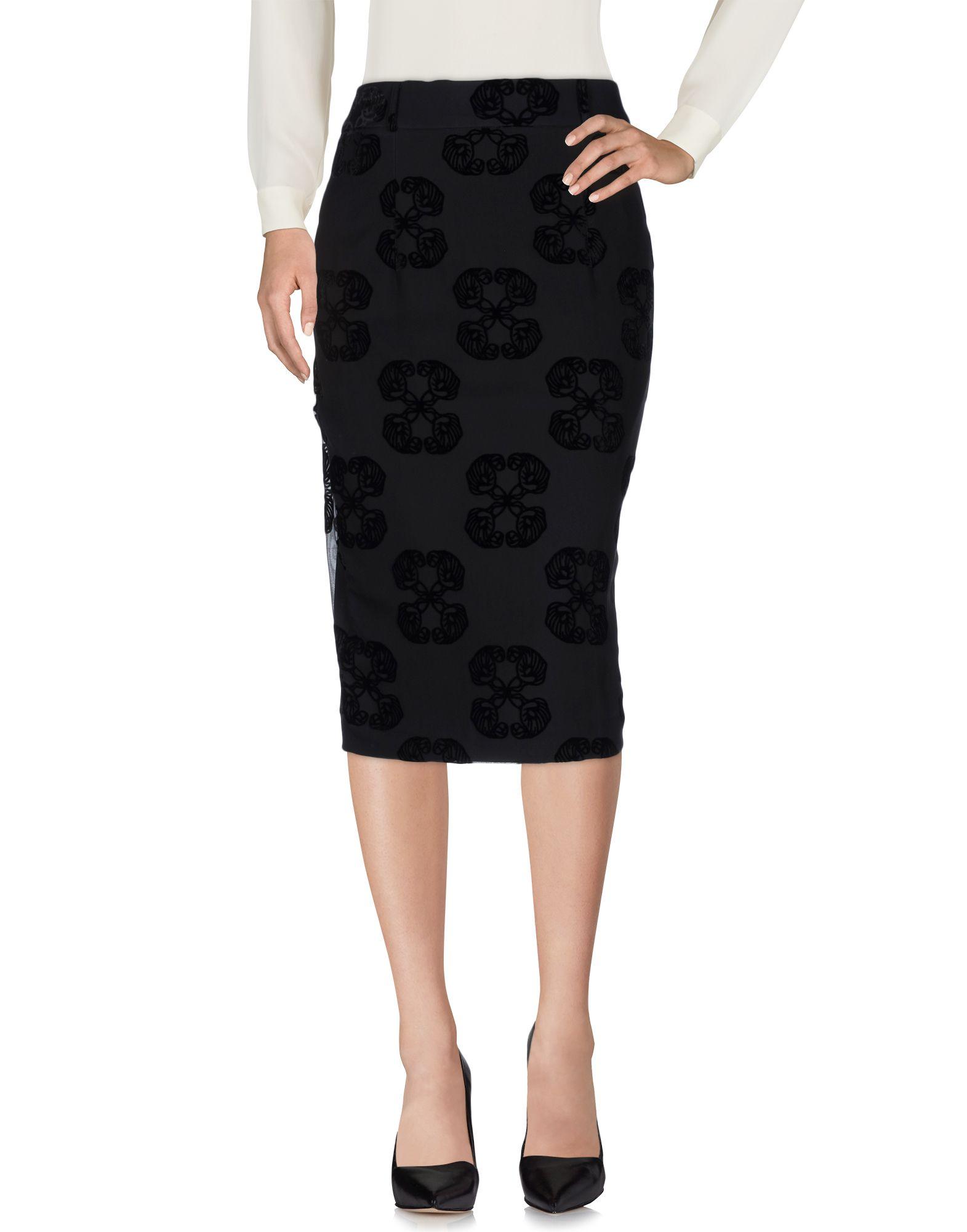 THOMAS WYLDE Юбка длиной 3/4 платье thomas wylde платья и сарафаны мини короткие