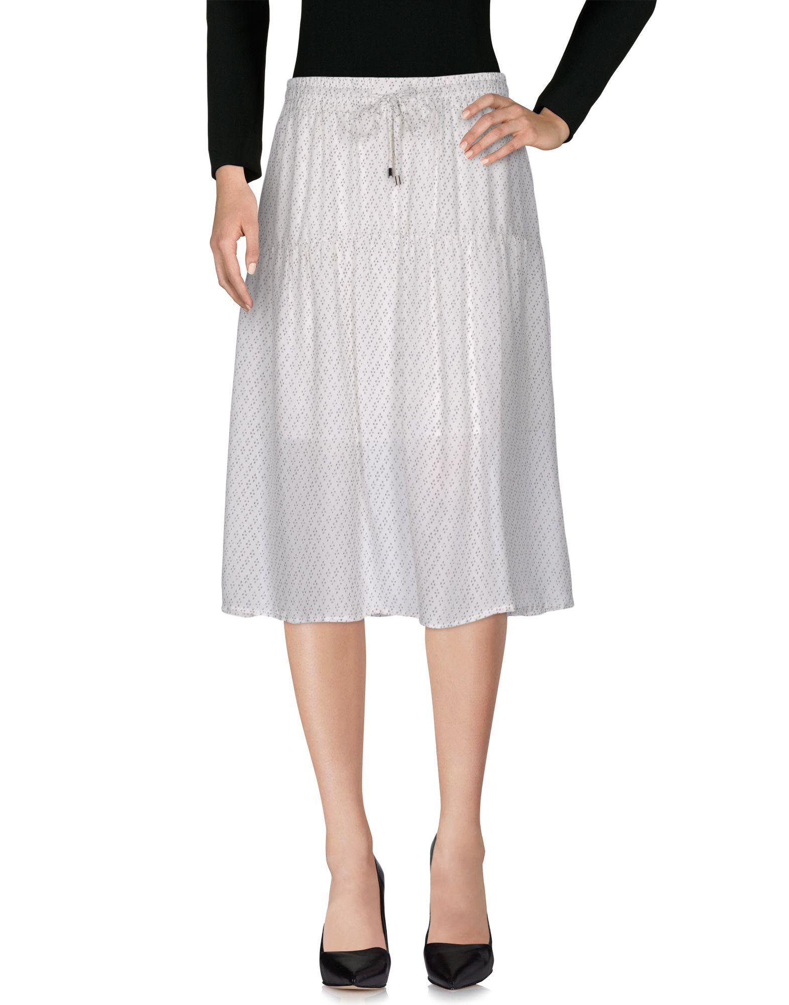 CUSTOMMADE 3/4 Length Skirts in White