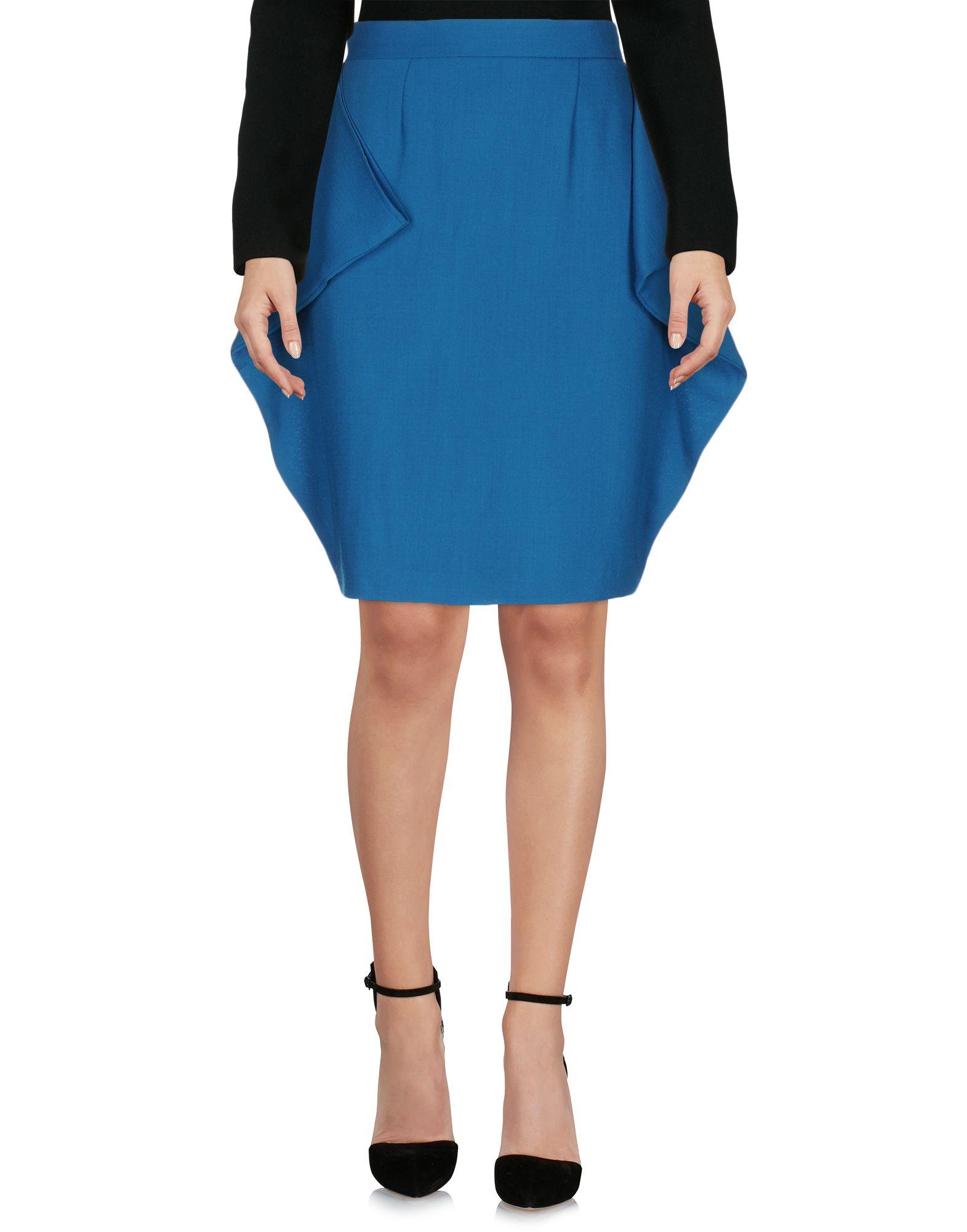 JC DE CASTELBAJAC Knee Length Skirt in Deep Jade