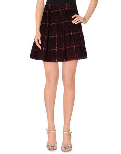 Фото - Мини-юбка красно-коричневого цвета
