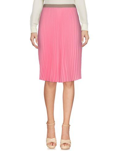 MALÌPARMI Damen Knielanger Rock Rosa Größe 36 100% Polyester