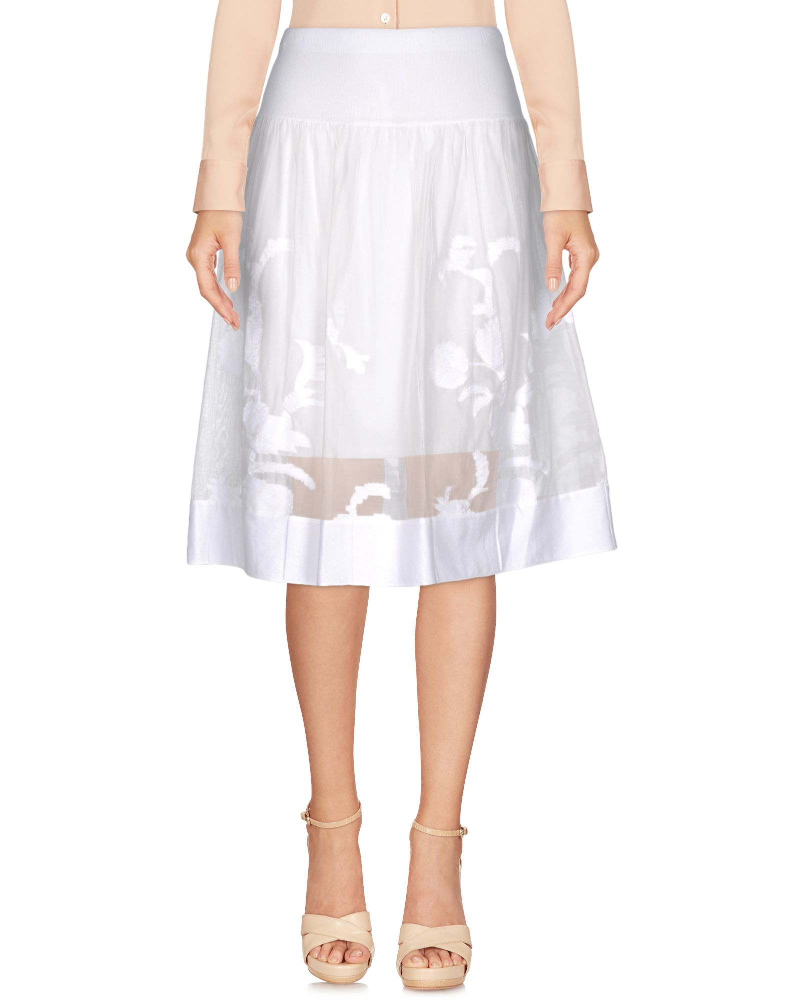 ELIE TAHARI Damen Midirock Farbe Weiß Größe 4