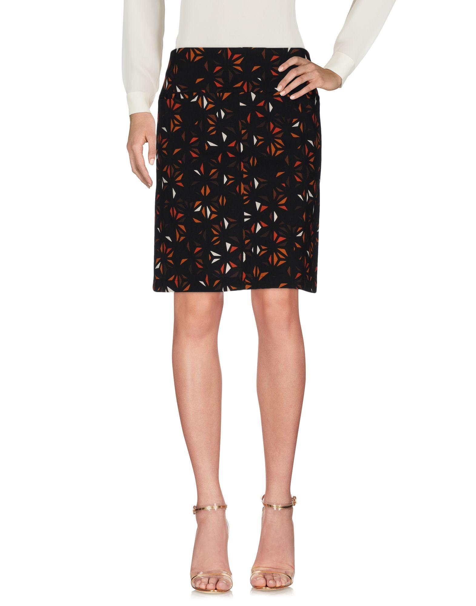 LAURA URBINATI Knee Length Skirt in Brown