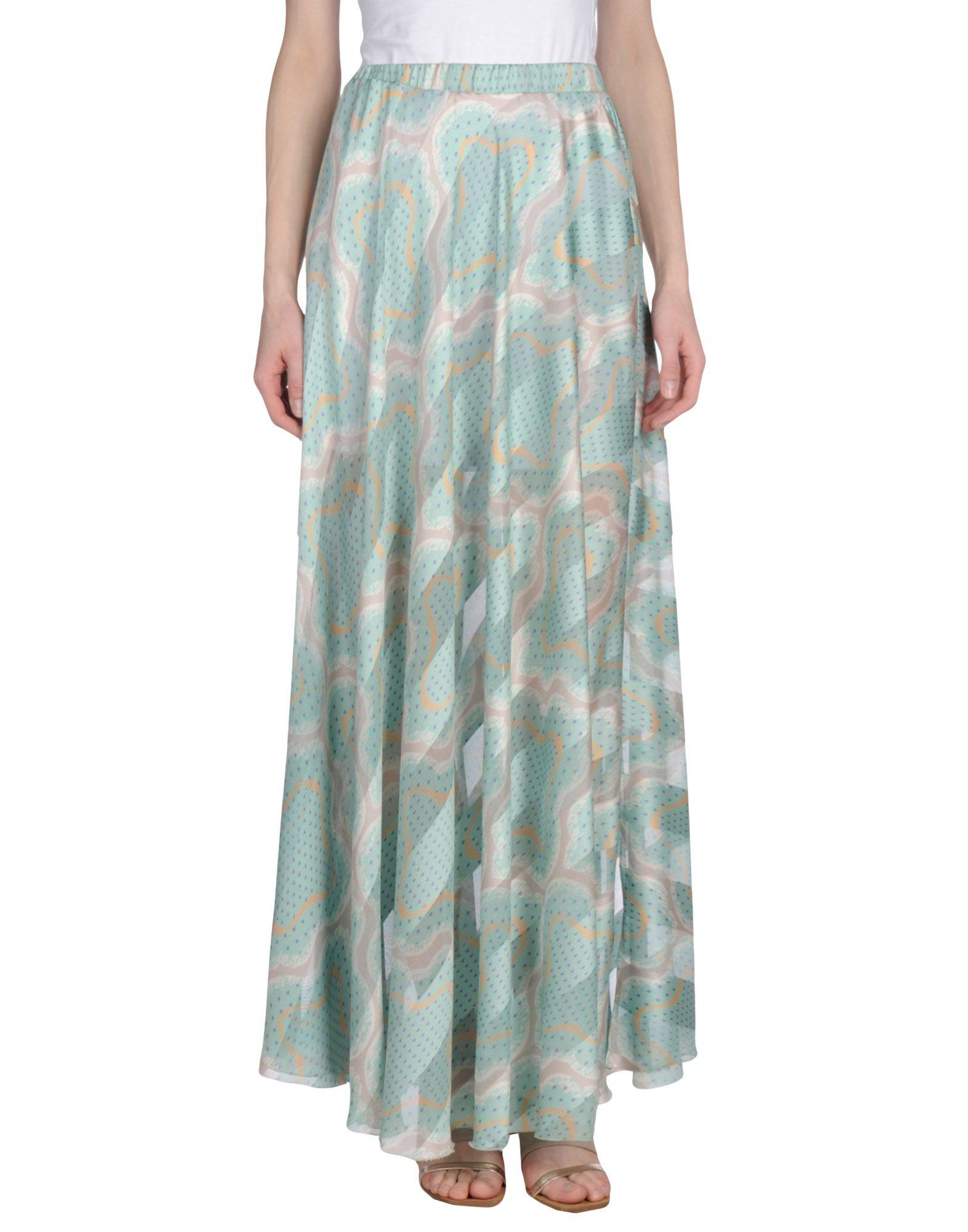цена LE RAGAZZE DI ST. BARTH Длинная юбка онлайн в 2017 году