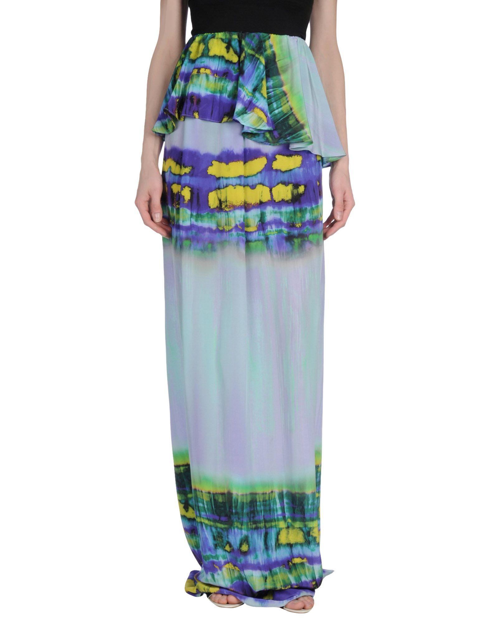 MSGM Damen Maxirock Farbe Lila Größe 2