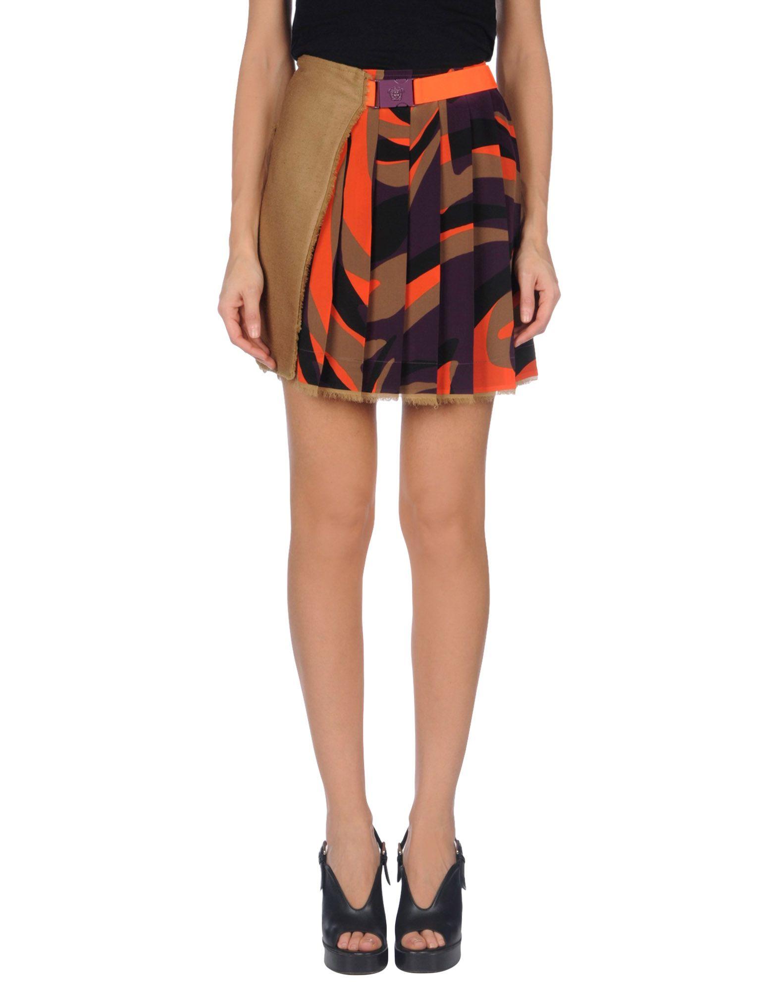 VERSACE Мини-юбка футболка versace разноцветный