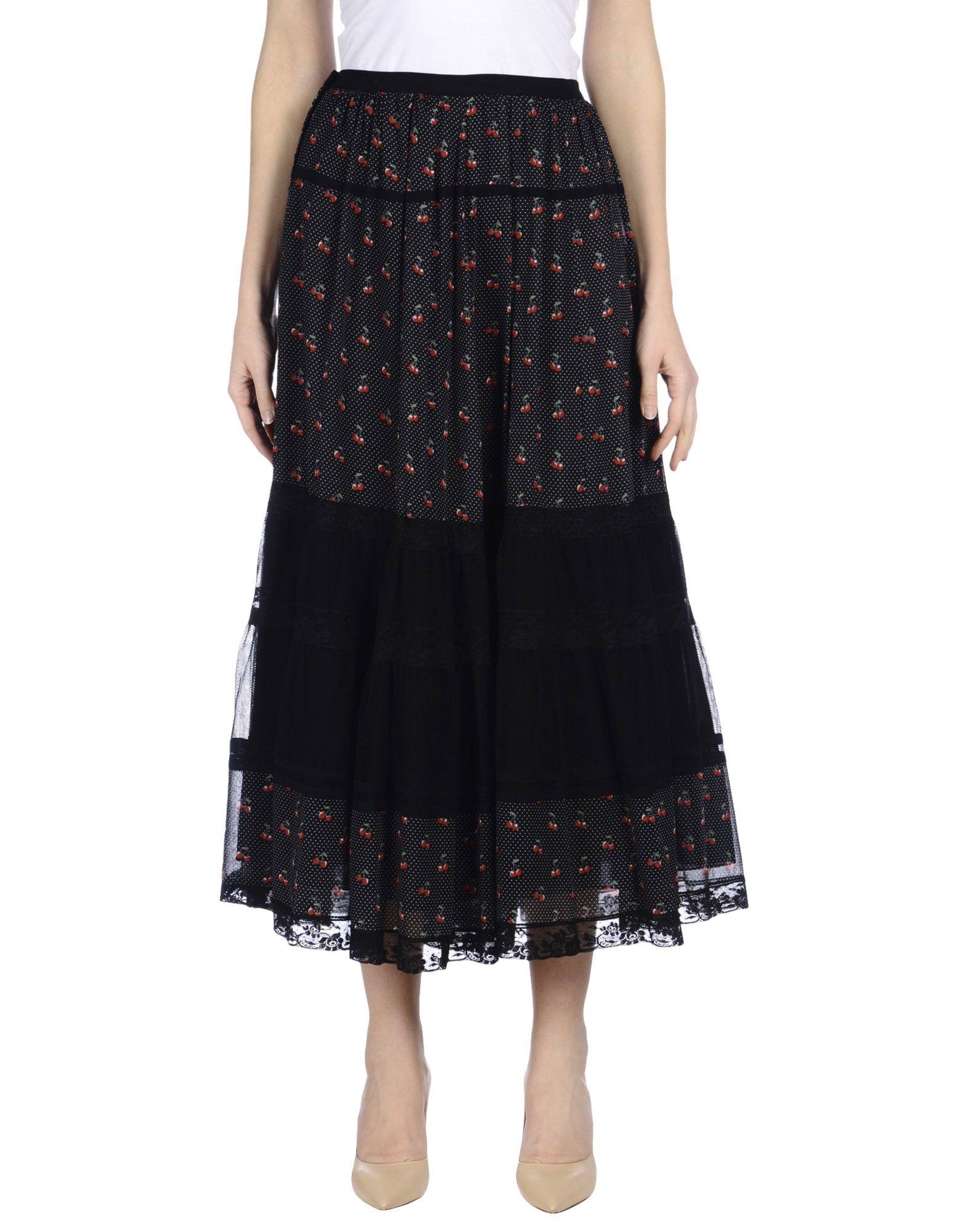 MARC BY MARC JACOBS Длинная юбка marc by marc jacobs юбка с контрастной отделкой