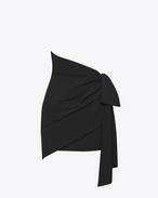 SAINT LAURENT Jupes Courtes D Mini-jupe drapée asymétrique noire f