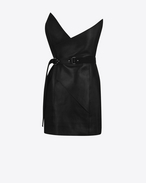 SAINT LAURENT Vestiti D Gonna nera fitted a vita fold-over f