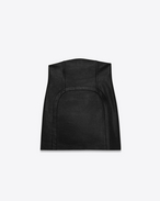 SAINT LAURENT Short Skirts D Black High Waisted Fitted Skirt f