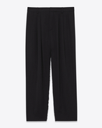 SAINT LAURENT Classic Pant D deconstructed pant skirt in black virgin wool twill f