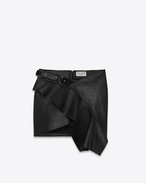 SAINT LAURENT Short Skirts D Black Asymmetrical Ruffle Skirt f