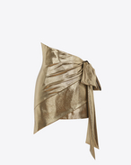 SAINT LAURENT Short Skirts D Gold Asymmetrical Draped Mini Skirt f
