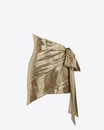 SAINT LAURENT Jupes Courtes D Mini-jupe drapée asymétrique or f