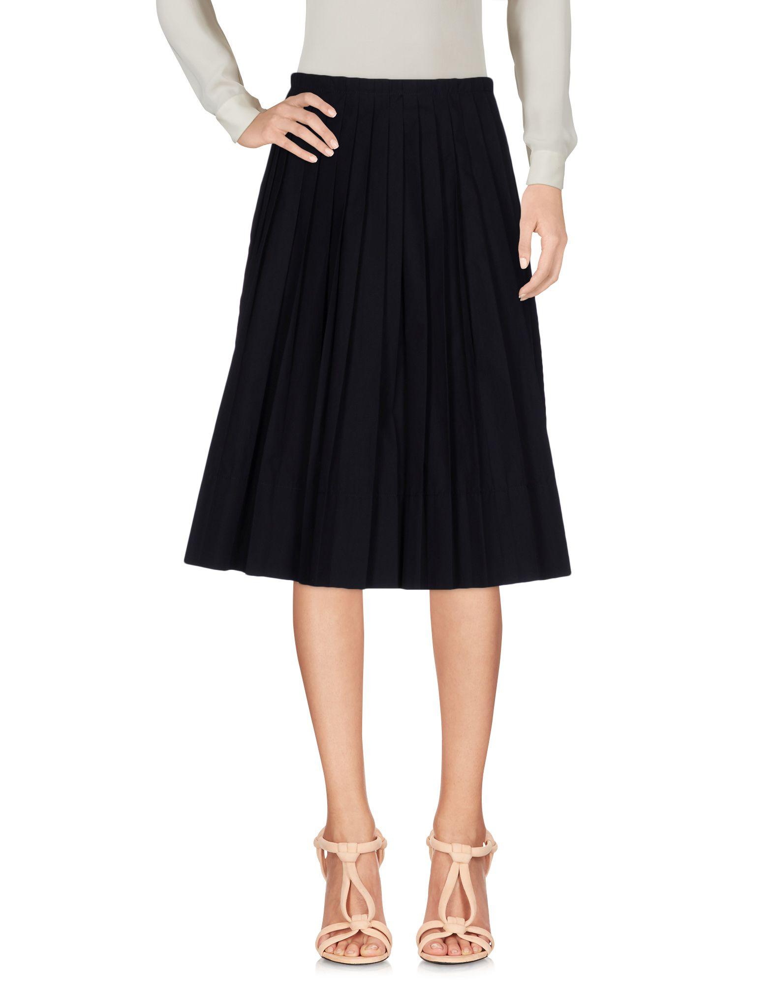 IO IVANA OMAZIC Knee Length Skirts in Dark Blue