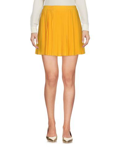 REDValentino Damen Minirock Gelb Größe 34 100% Seide