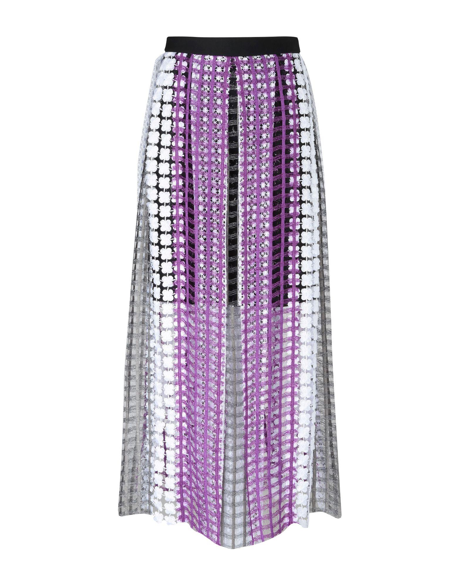 NATARGEORGIOU Long Skirts in Purple