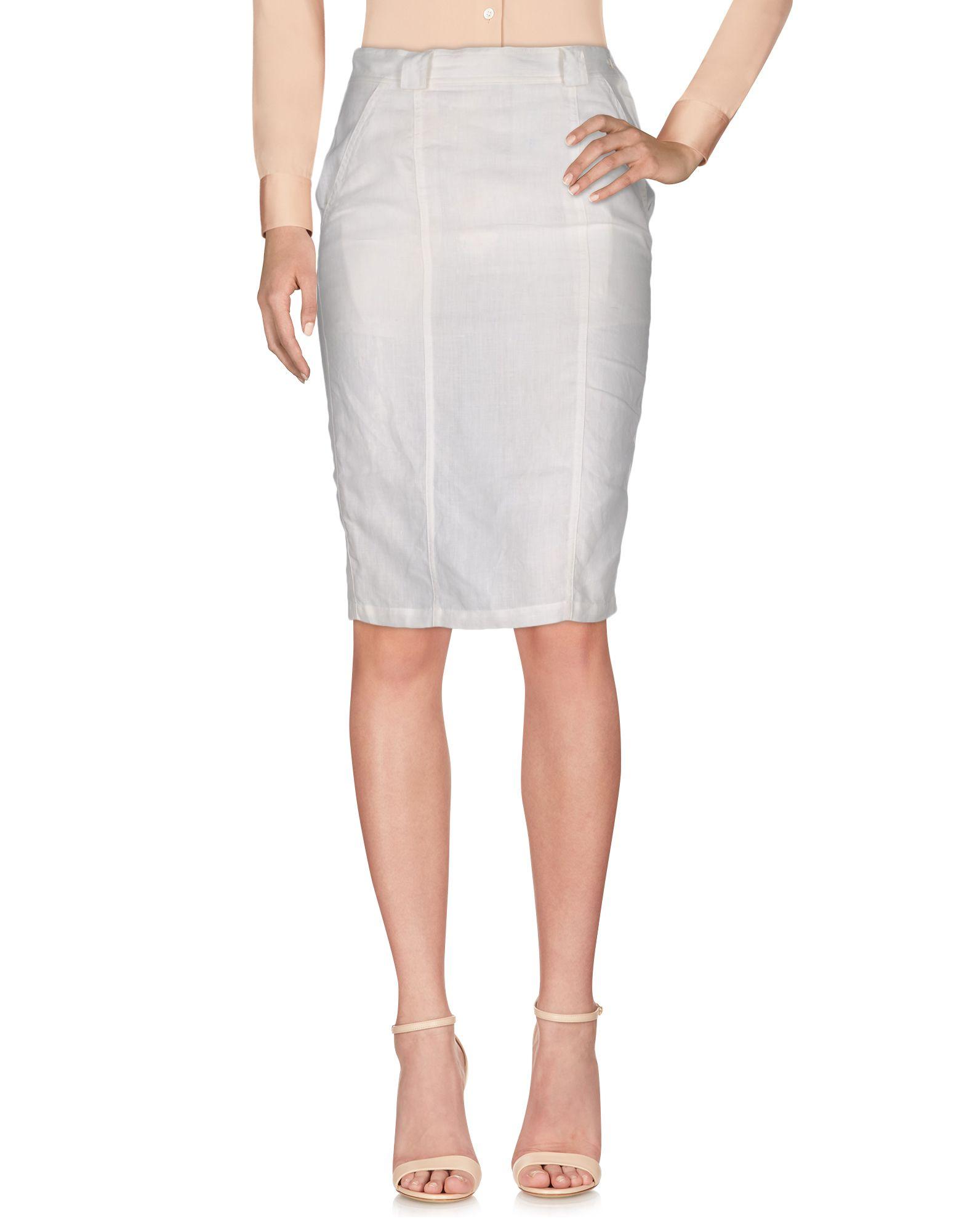 GIANNI VERSACE Knee Length Skirt in White